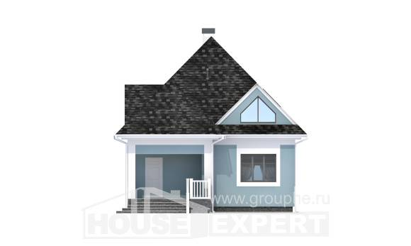 110-001-L Two Story House Plans and mansard, a simple Floor Plan,