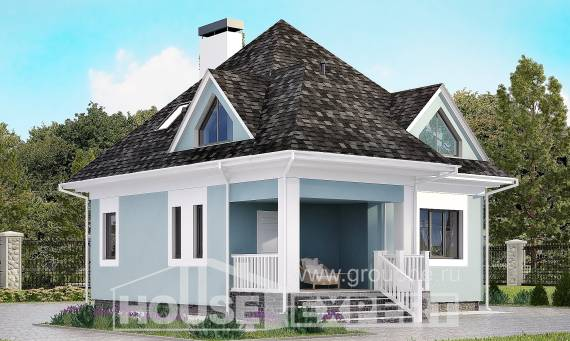 110-001-L Two Story House Plans with mansard roof, small Blueprints,