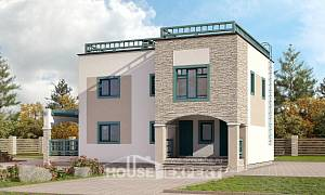 150-010-R Two Story House Plans, modern House Plan