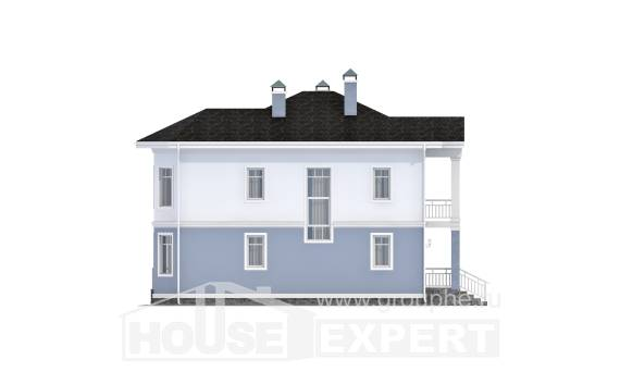 120-001-R Two Story House Plans, modern Custom Home