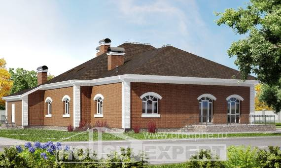 400-003-R Two Story House Plans with mansard roof, big Ranch,