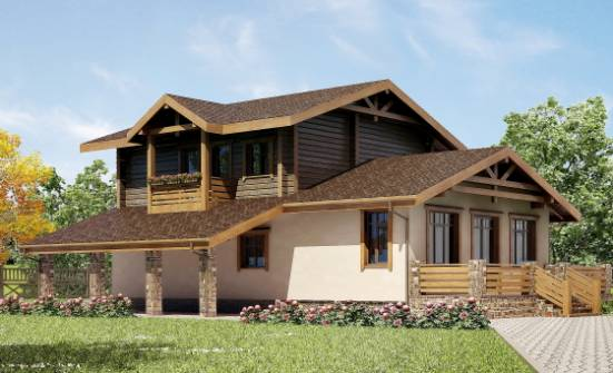 170-004-R Two Story House Plans with mansard roof with garage, modern House Building,
