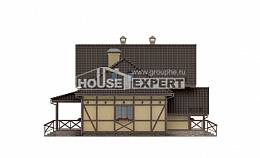 160-003-R Two Story House Plans and mansard, economical Floor Plan,