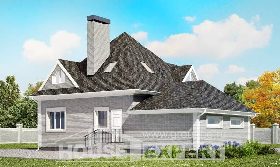 135-001-L Two Story House Plans with mansard with garage in back, modern Custom Home,