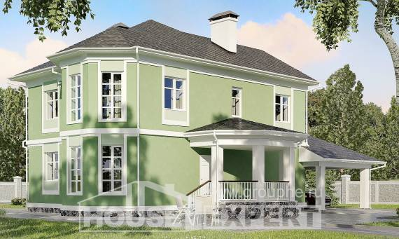 170-001-L Two Story House Plans with garage in front, the budget Cottages Plans