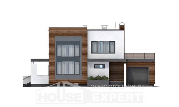 220-003-R Two Story House Plans with garage under, beautiful Architect Plans