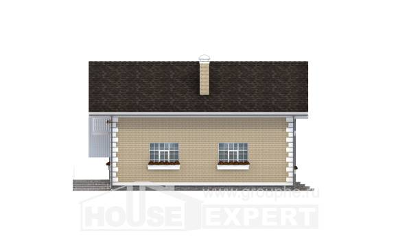 190-005-R Two Story House Plans with mansard roof with garage in back, beautiful Cottages Plans,