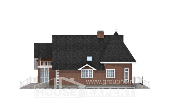220-002-L Two Story House Plans with mansard with garage in back, beautiful Drawing House,