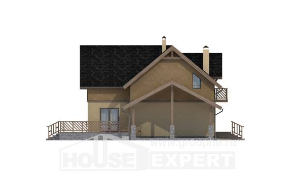 150-011-L Two Story House Plans with mansard roof and garage, small Drawing House,
