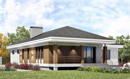 165-001-R One Story House Plans with garage, modern Models Plans,