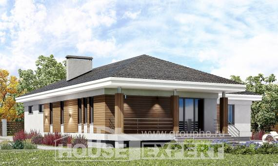 165-001-R One Story House Plans with garage in back, available House Plan