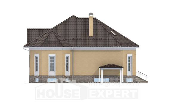 400-001-R Three Story House Plans and mansard with garage under, spacious Custom Home Plans Online, House Expert