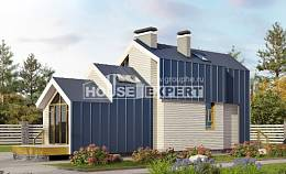 060-006-R Two Story House Plans with mansard roof, economy Models Plans,