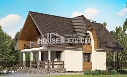 150-001-L Two Story House Plans with mansard roof with garage, beautiful House Online, House Expert