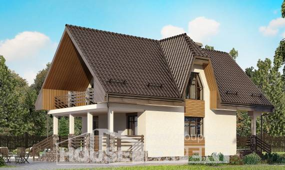 150-001-L Two Story House Plans with mansard with garage in front, best house Building Plan,