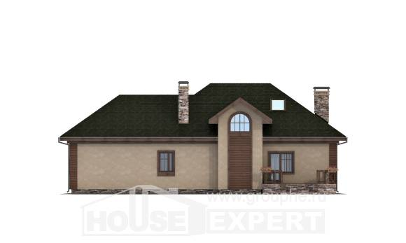 180-010-R Two Story House Plans with mansard and garage, cozy Tiny House Plans,