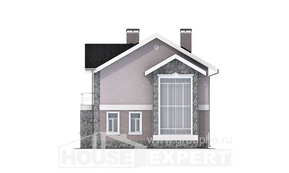 170-008-R Two Story House Plans, a simple Home House,