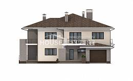 500-001-R Three Story House Plans and garage, big Timber Frame Houses Plans, House Expert