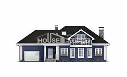 180-010-L Two Story House Plans with mansard roof and garage, classic Custom Home,