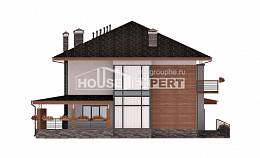 305-001-R Two Story House Plans with garage under, beautiful House Online,