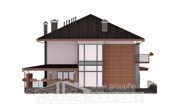 305-001-R Two Story House Plans with garage in front, modern Blueprints of House Plans,