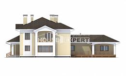 375-002-L Two Story House Plans with garage under, cozy Home Plans