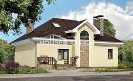 150-008-L Two Story House Plans and mansard, a simple House Planes,