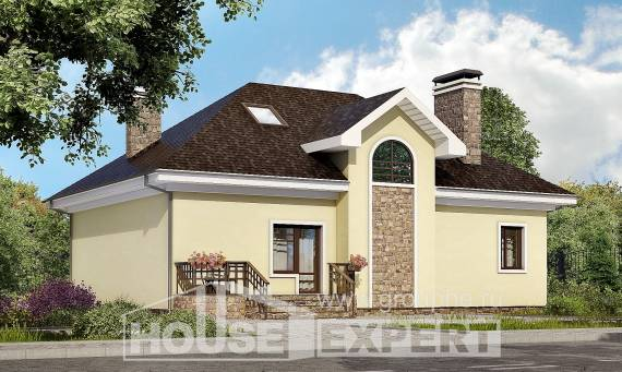 150-008-L Two Story House Plans and mansard, economical Blueprints,