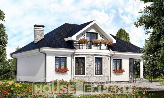 150-008-R Two Story House Plans and mansard, modern Ranch,