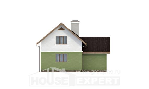120-002-R Two Story House Plans with mansard roof with garage, classic House Online,