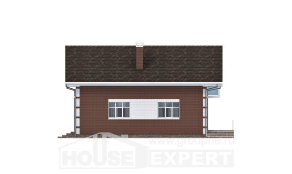 180-001-L Two Story House Plans with mansard with garage under, economical House Plan, House Expert