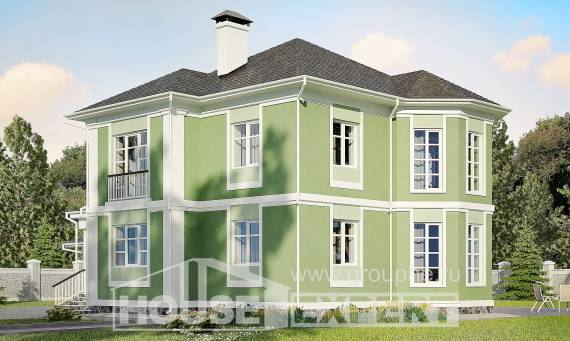 170-001-L Two Story House Plans with garage in front, small House Plan