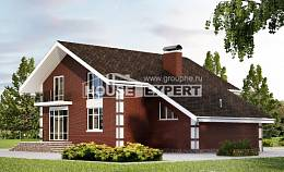 180-001-L Two Story House Plans and mansard with garage under, a simple Online Floor, House Expert
