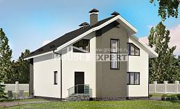 150-005-L Two Story House Plans and mansard, small House Planes