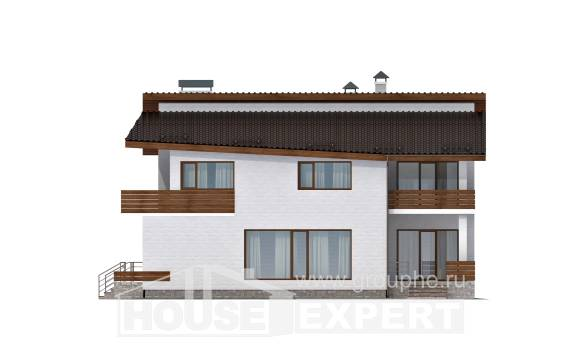 180-009-R Two Story House Plans with mansard roof, small Building Plan,