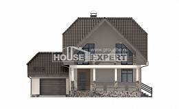 150-001-L Two Story House Plans with mansard roof and garage, beautiful Blueprints, House Expert