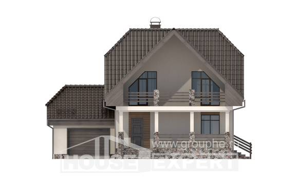 150-001-L Two Story House Plans with mansard roof with garage in front, available House Plans,