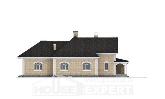 290-001-R Two Story House Plans with mansard with garage under, cozy House Plans, House Expert