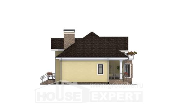150-008-L Two Story House Plans with mansard, compact Dream Plan,