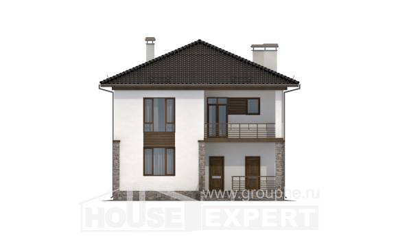 170-005-R Two Story House Plans, economical House Building,