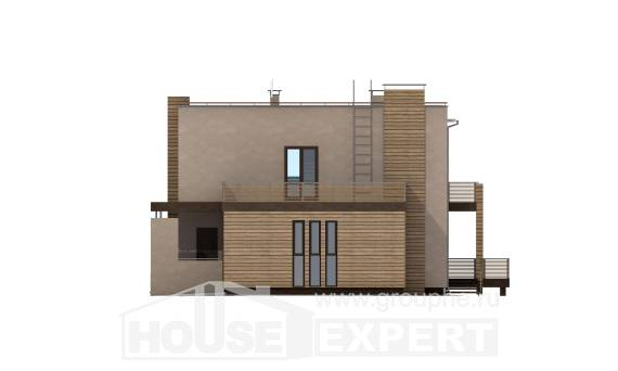 220-003-L Two Story House Plans and garage, cozy House Blueprints