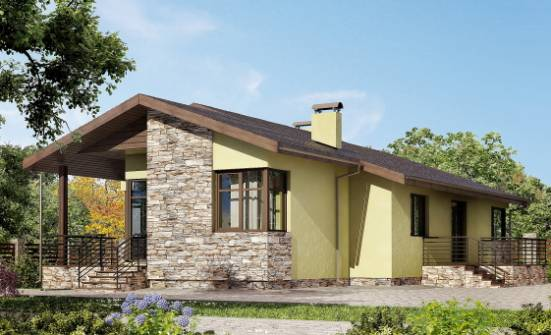 130-007-L One Story House Plans, cozy House Plans,