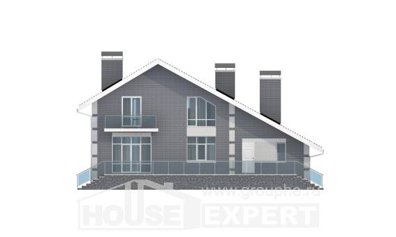 190-006-L Two Story House Plans and mansard with garage, classic Home House,