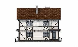 180-004-L Two Story House Plans and mansard with garage under, beautiful Home Blueprints,