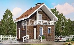 045-001-L Two Story House Plans with mansard roof, tiddly Floor Plan,