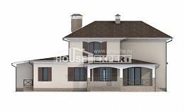 285-002-R Two Story House Plans with garage under, luxury House Plans,