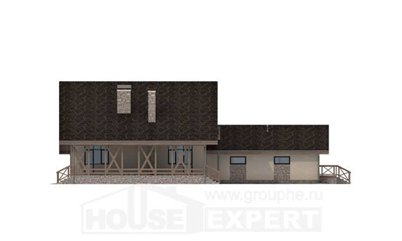 265-001-L Two Story House Plans with mansard roof with garage, classic Design Blueprints, House Expert