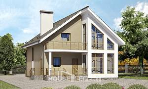 170-006-L Two Story House Plans and mansard, best house Plans To Build