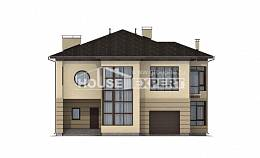 300-006-R Two Story House Plans with garage under, luxury Woodhouses Plans,