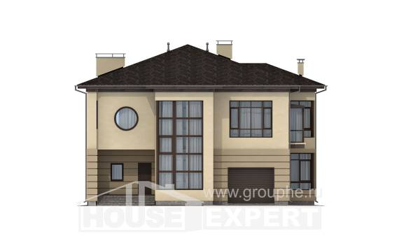 300-006-R Two Story House Plans and garage, cozy Dream Plan,